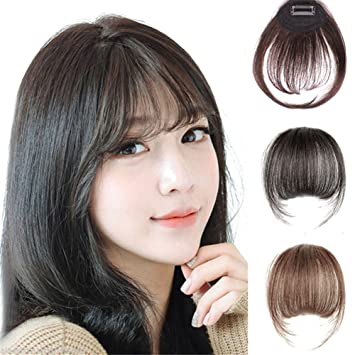 amazon com remeehi mini air flat bangs fringe hair extensions real