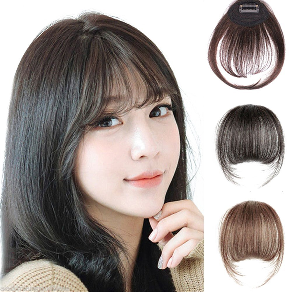 Amazon Remeehi Mini Air Flat Bangsfringe Hair Extensions Real