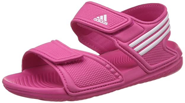 095b5a8a5b62e0 Adidas Boys Akwah 9 K Pink and White Sandals and Floaters - 10 Kids  UK India (28 EU)  Buy Online at Low Prices in India - Amazon.in