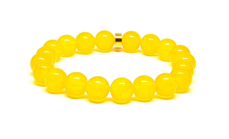 10mm Jade Bracelet Yellow Bracelet Stretch Bracelet Bead Bracelet Women Yellow Jade Bracelet Yellow Jewelry Gift Gift Ideas for Women