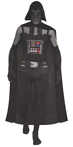 Star Wars 2nd Skin Full Body Suit Adult Darth Vader - Black