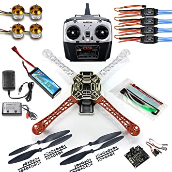qwinout diy 8ch kk v2 3 f450 frame rc quadcopter 4-axle ufo unassembly