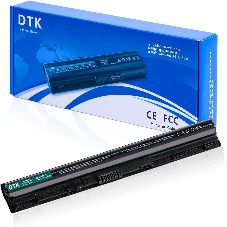 DTK Laptop Battery M5Y1k for Dell Inspiron 14 3000 3551 5000 N3451 / 15 3000 3451 3458 5458/15 3000 5451 5455 3558 5551 5555 5558 5758 ; Vostro 3458 3558 [14.8V 2600MAH]