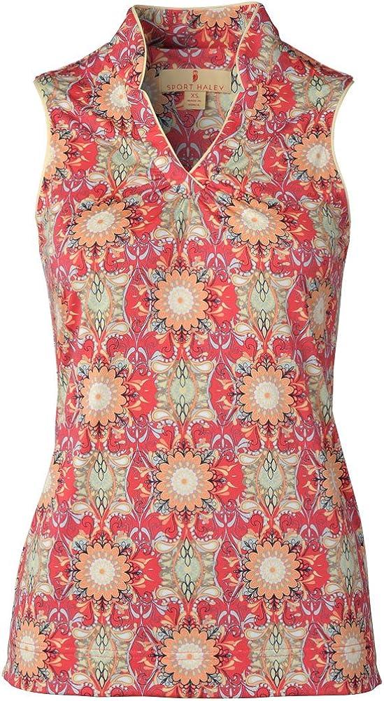 Popular product Sport Haley Women's Sleeveless Time sale Shirt Polo Print