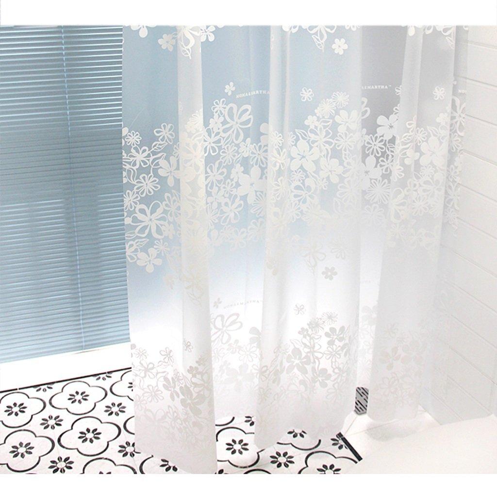Curtain Bathroom Shower Curtains, Waterproof Antifungal Shower Curtain, White Printing Shower Curtain Shower Equipment (Size : 200180cm)