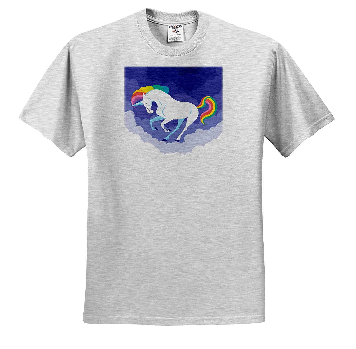 Illustration of Funny Unicorn Horse with Dreaming Background 3dRose Sven Herkenrath Animal T-Shirts