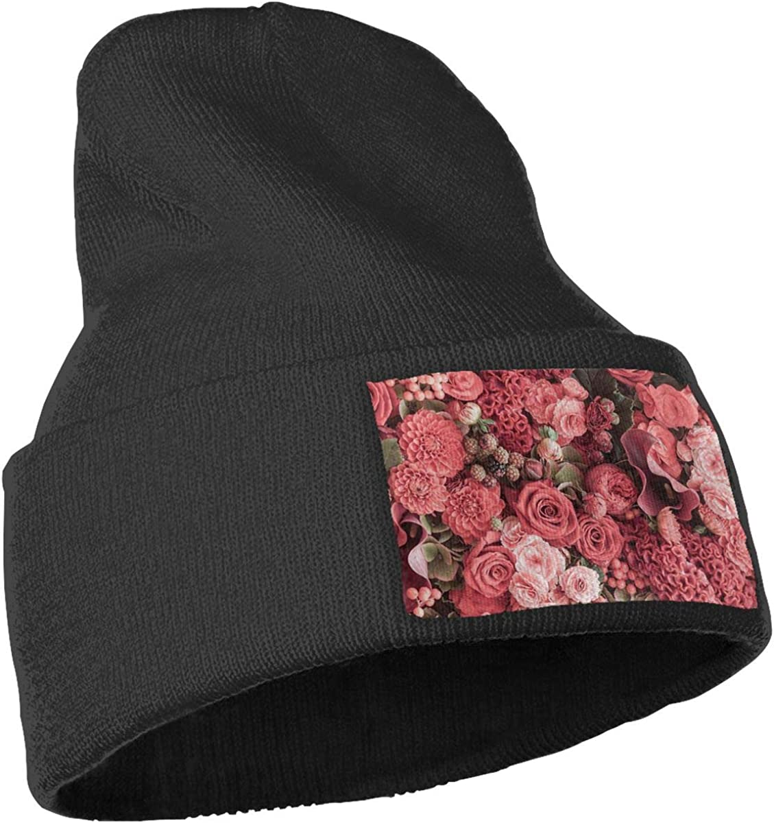 Yubb7E Pattern Warm Knit Winter Solid Beanie Hat Unisex Skull Cap