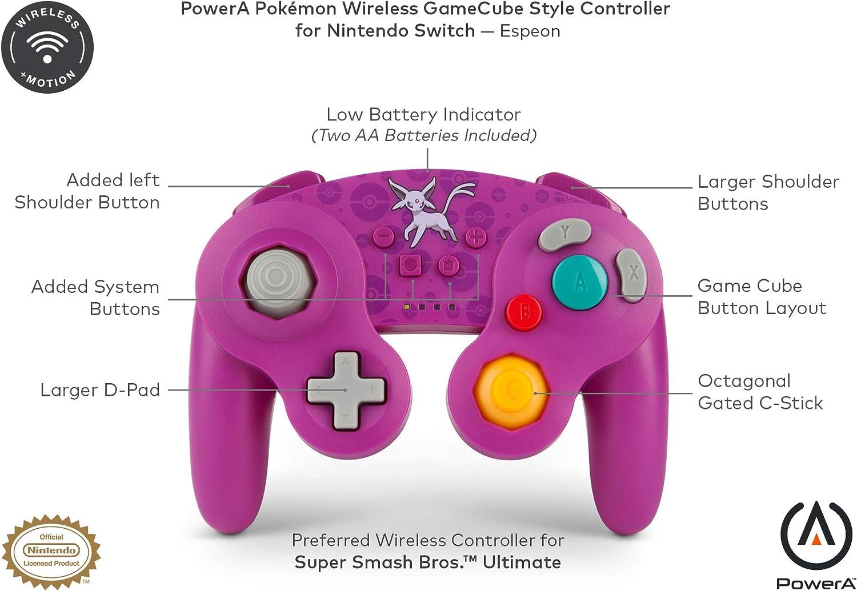 Pokémon Mando inalámbrico para Nintendo Switch - Estilo GameCube: Espeon: Amazon.es: Videojuegos