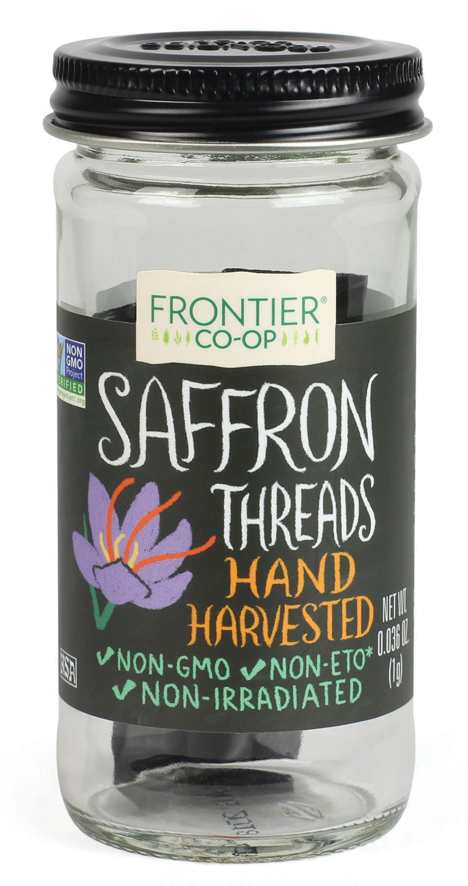 Frontier Culinary Spices Saffron, 0.036-Ounce Bottle