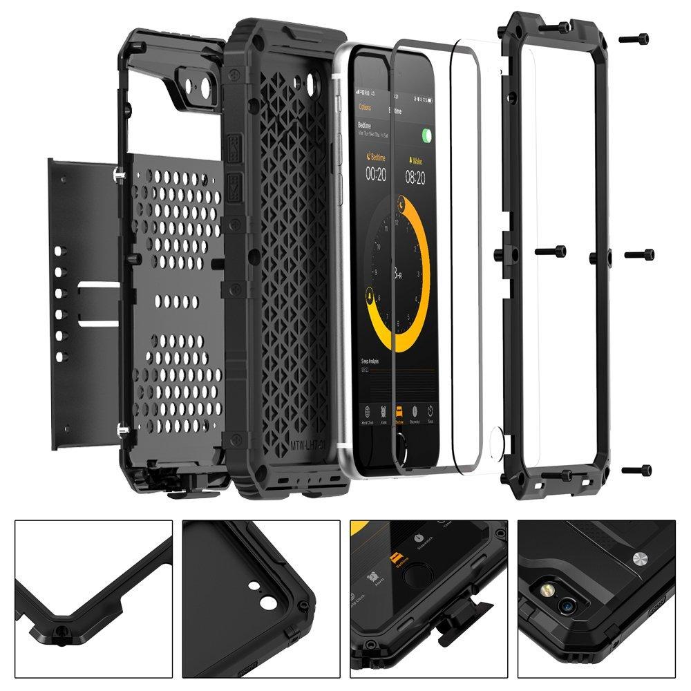 seacosmo Impermeable Funda para iPhone 7/8, [Rugged Armour] Carcasa con Protector de Pantalla [Anti-Arañazos] Protección Completa del Cuerpo Parachoque ...