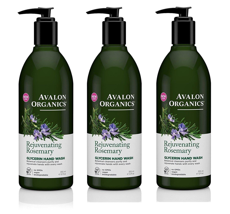 Avalon Glycerin Hand Soap Rosemary 12 oz (Set of 3)