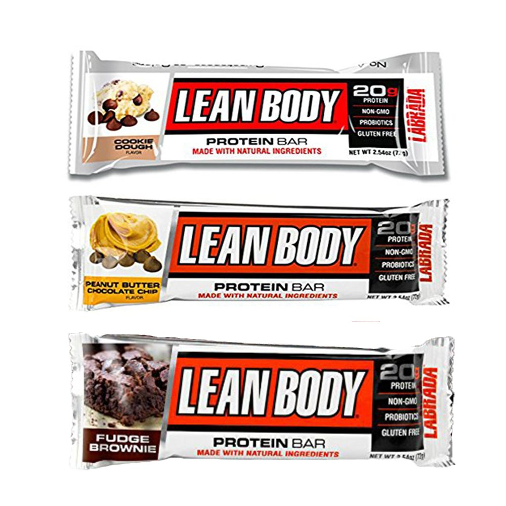 Labrada | Lean Body Protein Bars | Non-GMO, Gluten Free, All Natural Protein Bar Made with Natural Ingredients ( Variety Pack )