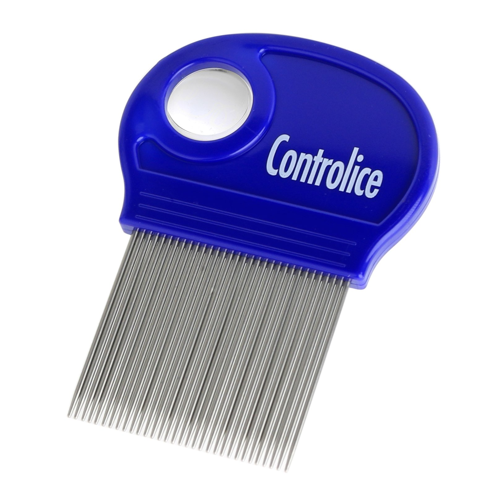 Controlice Lice Buster Comb: Head Lice Comb For Easy, Efficient Lice Treatment | Smooth Easy-Grip Handle with Built-In Magnifier | Works on Thick, Long or Curly Hair