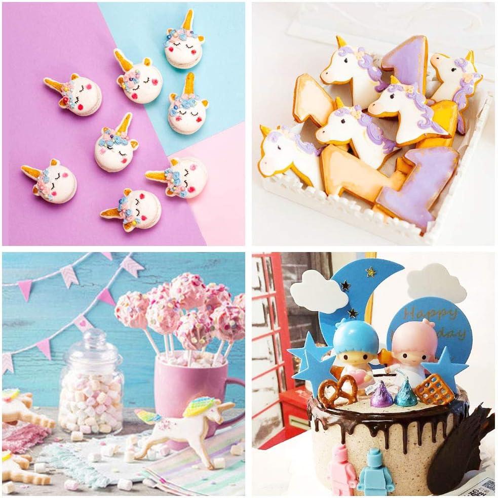 Pasta di Zucchero e Decorazioni per Torte Owoda Set di 9 Formine per Biscotti di Natale,Tagliabiscotti Unicorno in Acciaio Inossidabile,per Bambini DIY,Biscotti Glassa