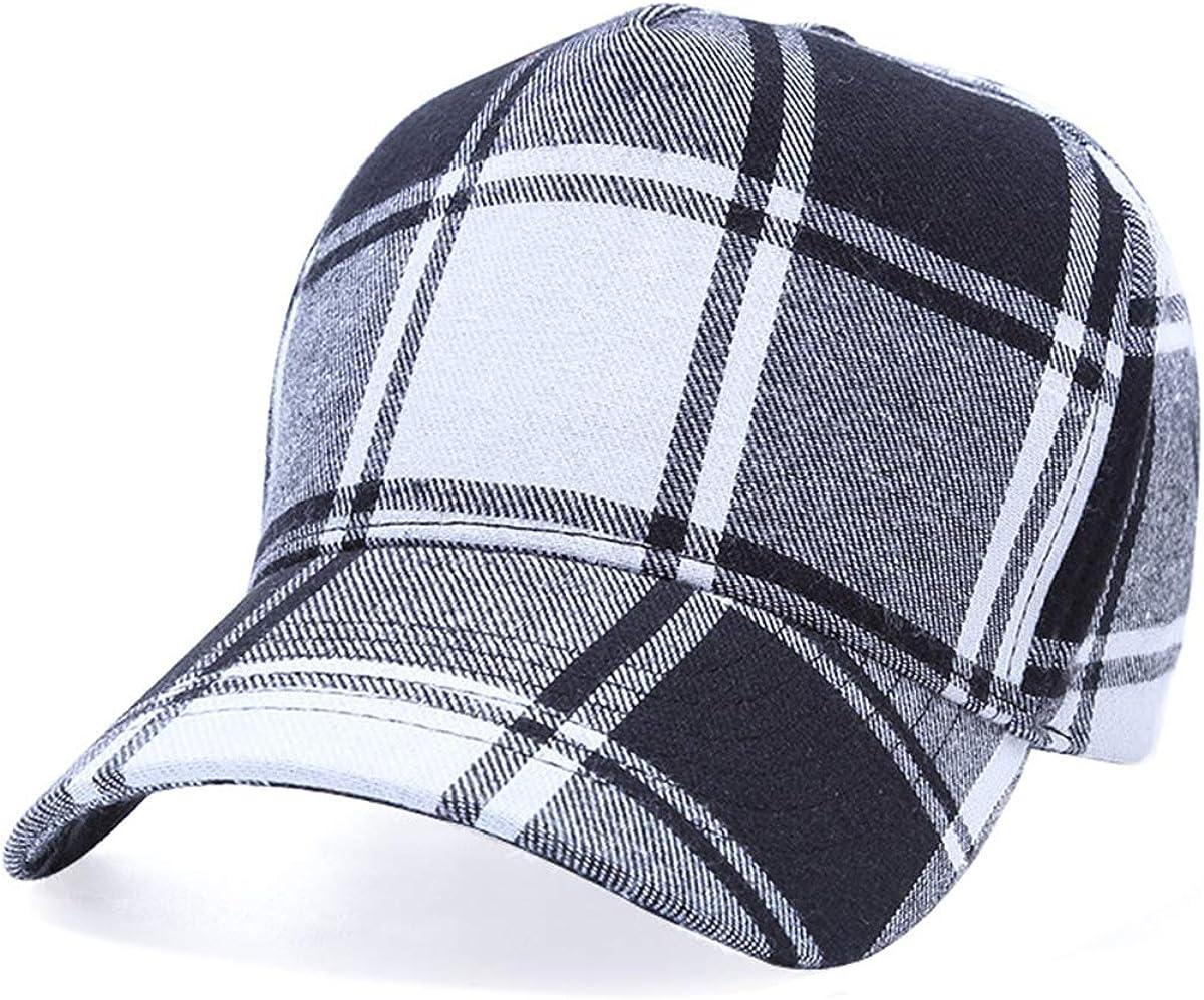Plaid Print Baseball Cap...