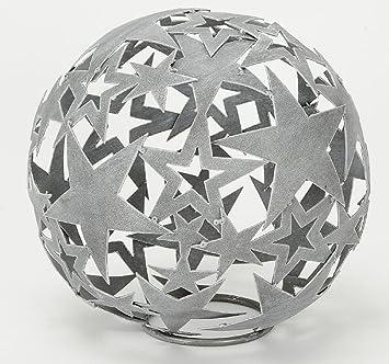 Hsm Dekorative Stern Kugel Deko Kugel Garten Kugel Metall Hellgrau