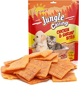 Jungle Calling Training Treats for Dogs, Chicken&Shrimp Small Bites Soft Puppy Training Treats, Easy to Digest
