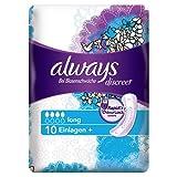 Always Discreet Inkontinenz Einlagen plus Long Bei Blasenschwäche Einzelpack, 5er Pack (5 x 10 Stück)