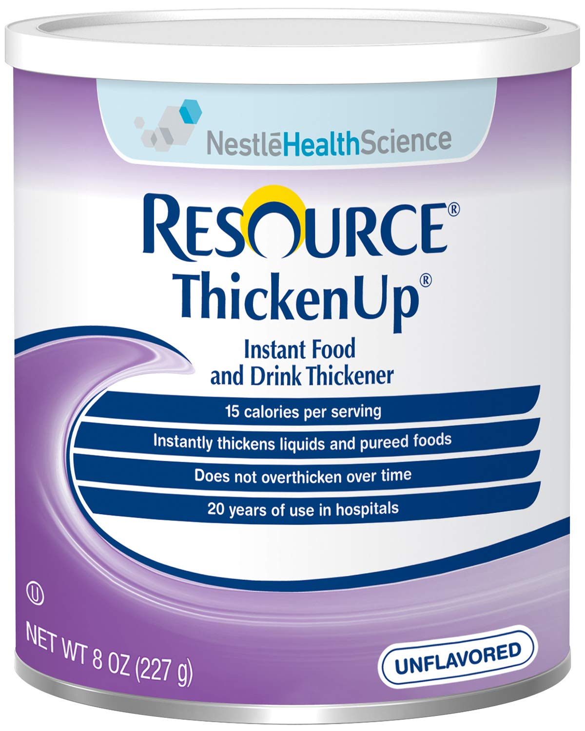 ReSource ThickenUp Instant Food & Drink Thickener, Unflavored, 8 OZ (Pack of 6)
