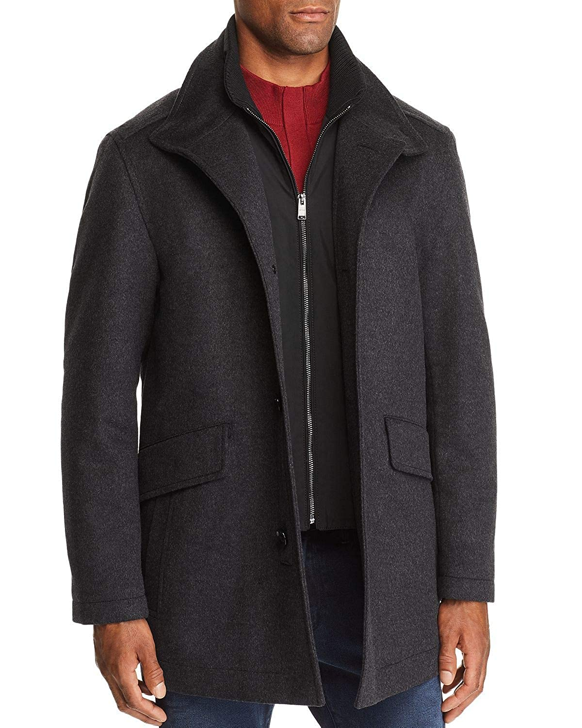 22f407f1 Amazon.com: Hugo Boss Men's Regular Fit Coxtan 6 Wool-Cashmere Coat:  Clothing