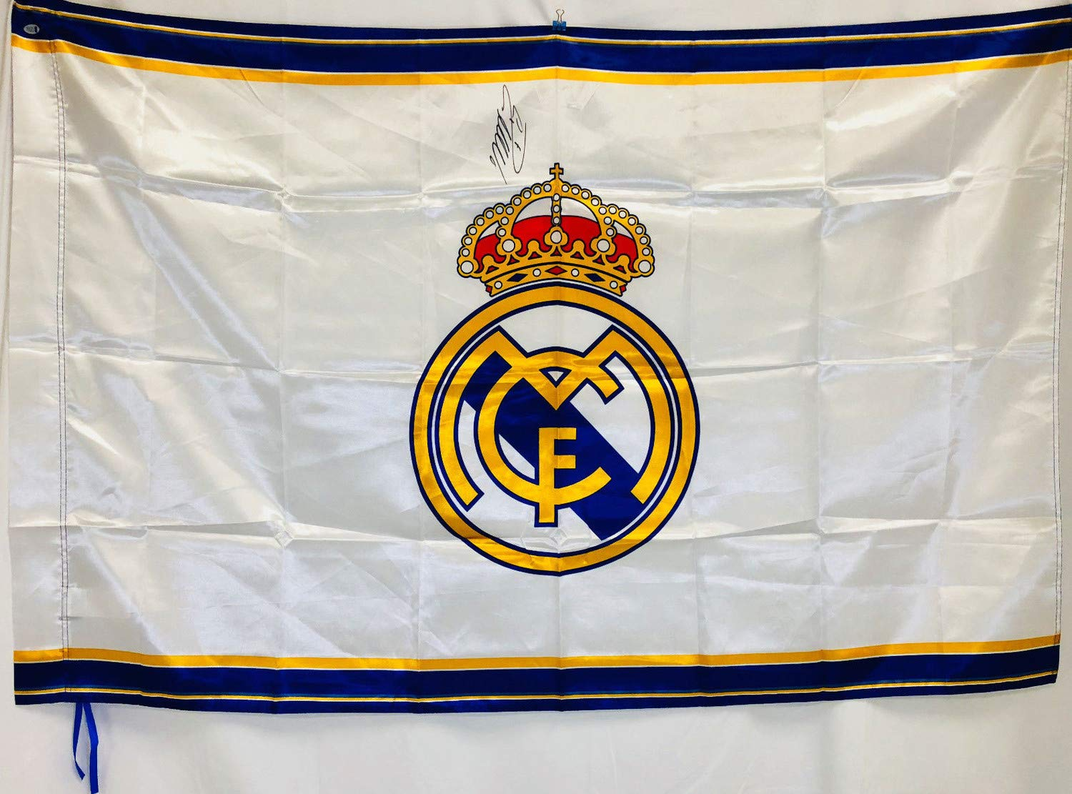 Cristiano Ronaldo Autographed Signed Memorabilia Real Madrid Soccer Flag Banner Auto Beckett Authentic