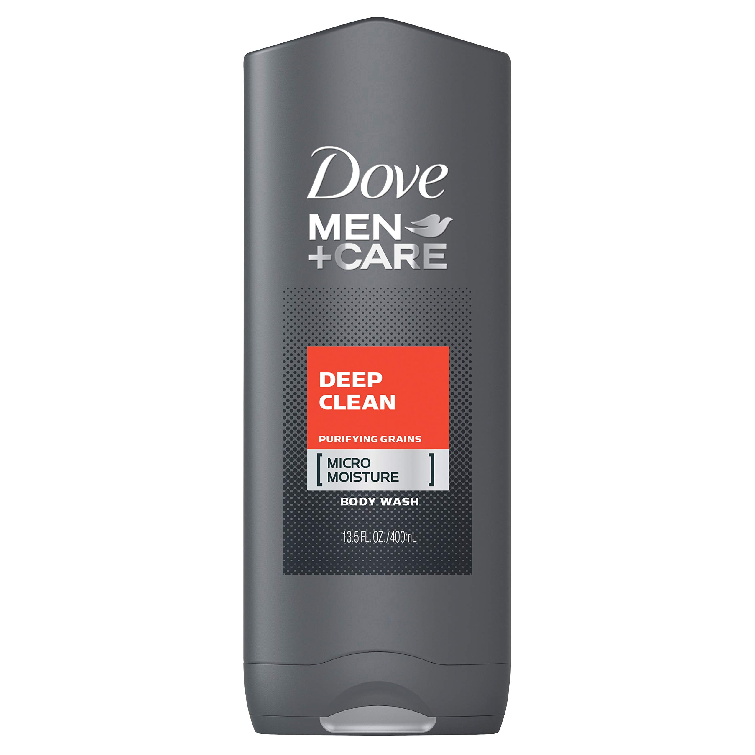 Dove Men+Care Body Wash Deep Clean 13.5 oz for Healthier, Hydrated and Stronger Skin Effectively Washes Away Bacteria While Nourishing Your Skin