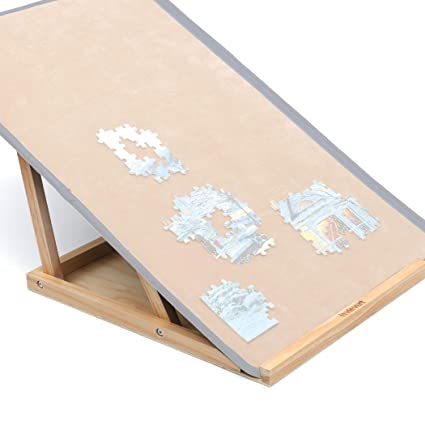 Lavievert Assembly Jigsaw Puzzle Bracketholder With Double Adjusting Rods For Puzzle Boards Of Varied Sizes