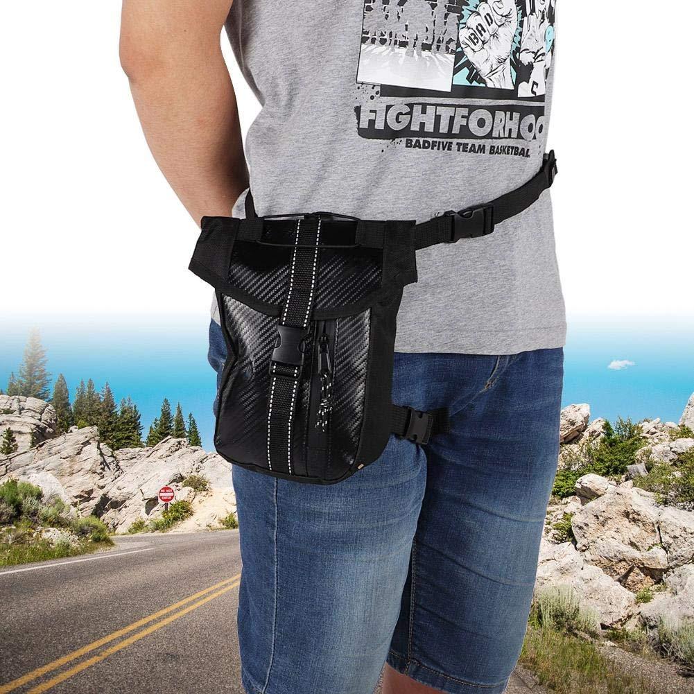 bolso impermeable del paquete del estilo de la fibra de carbono para el logotipo de KIMISS Bolso de la cintura del montar a caballo de la motocicleta de