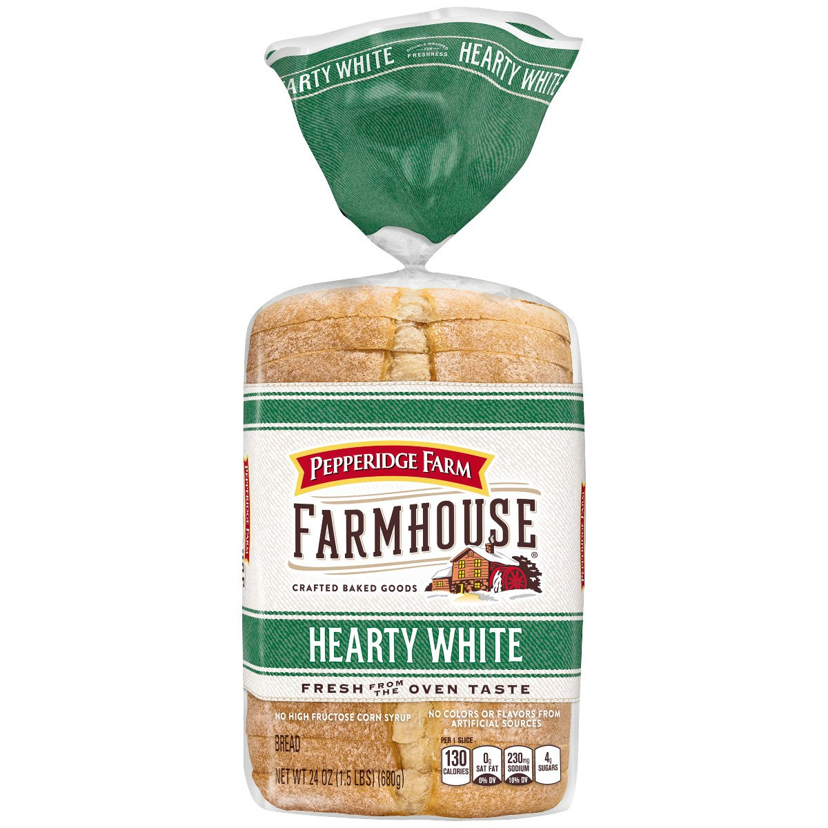 Pepperidge Farm Farmhouse Hearty White Bread, 24 oz. Bag