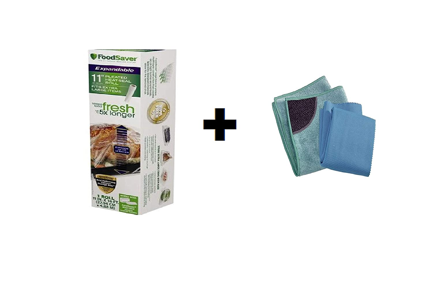 Amazon.com: FoodSaver 11 in x 16 ft Expandable Heat-Seal ...