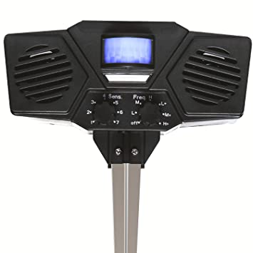 Dispositivo Control de plagas - Repelente solar electrónico exterior para disuadir plagas y animales – Al