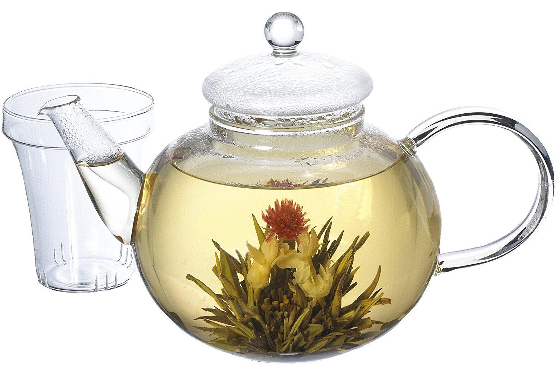 GROSCHE MONACO Glass Teapot with Infuser 1250 ml 42 fl. oz. capacity GR 174