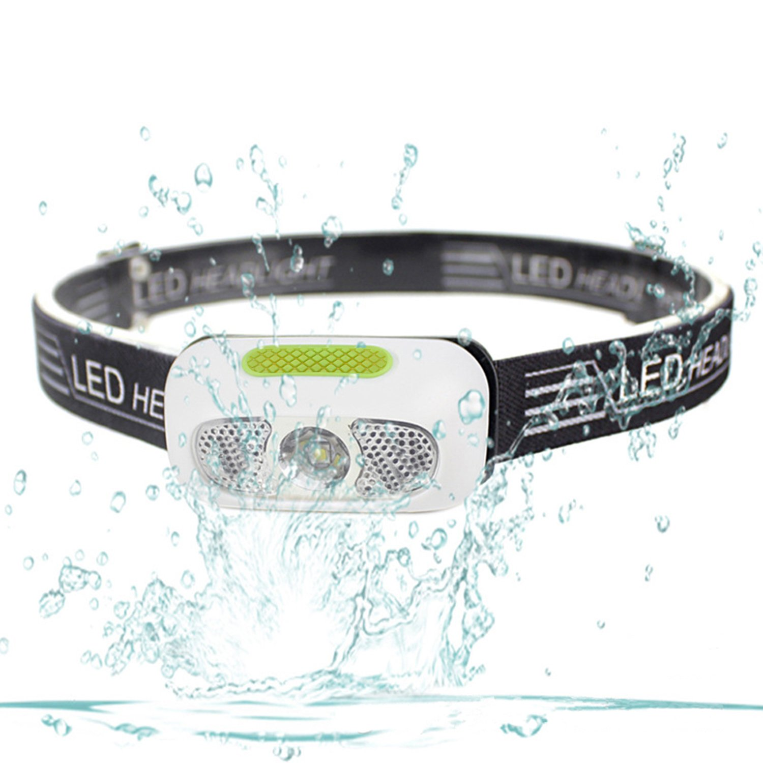 Waterproof LED Headlamp, HFAN USB Rechargeable Headlight LED Headlamps, Waterproof Outdoor Sport Flashlight with Cree XP-G2 LED and Adjustable Headband for Camping, Hiking, Climbing, Fishing, Reading