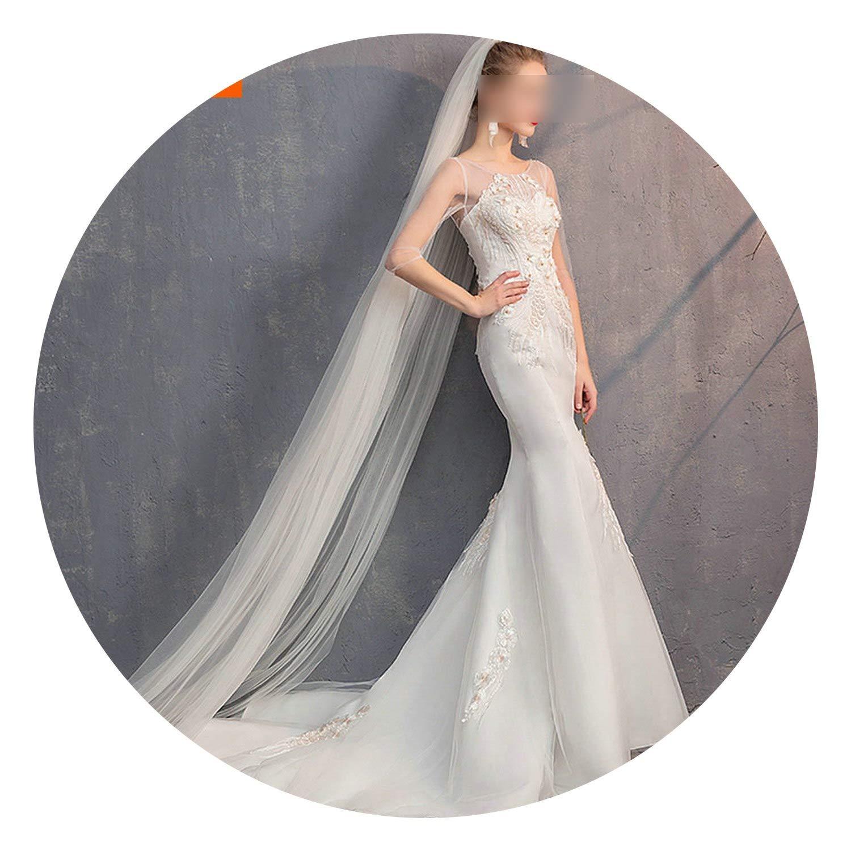 Veiling One Layer Bridal Veils Women Ivory Bride Veil 300CM Elegant Wedding Accessories