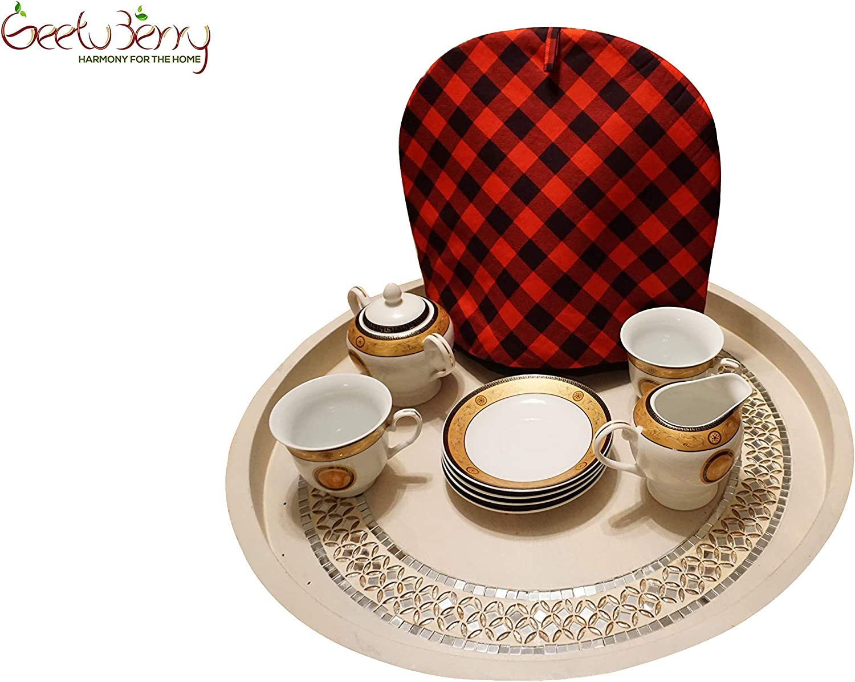 GeetuBerry Buffalo Plaid Tea Cozy
