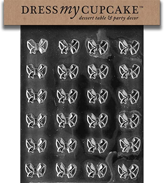 set of 3 Bite Size Bows Chocolate Candy Mold