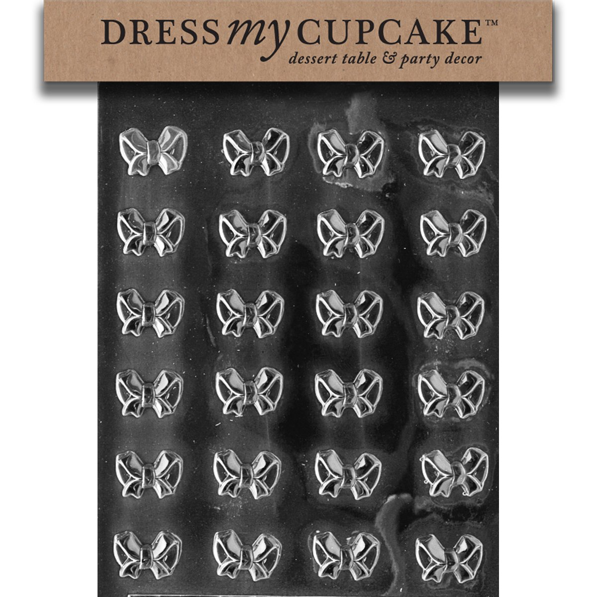 Dress My Cupcake Bite Size - Small Bows Chocolate Mold - M082 - Includes Melting & Chocolate Molding Instructions