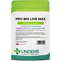 Lindens Probiótico MAX 6bn cápsulas paquete de 100GB