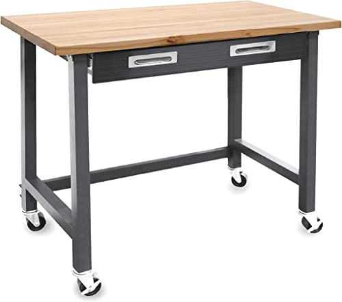 Seville Classics UltraGraphite Wood Top Workbench