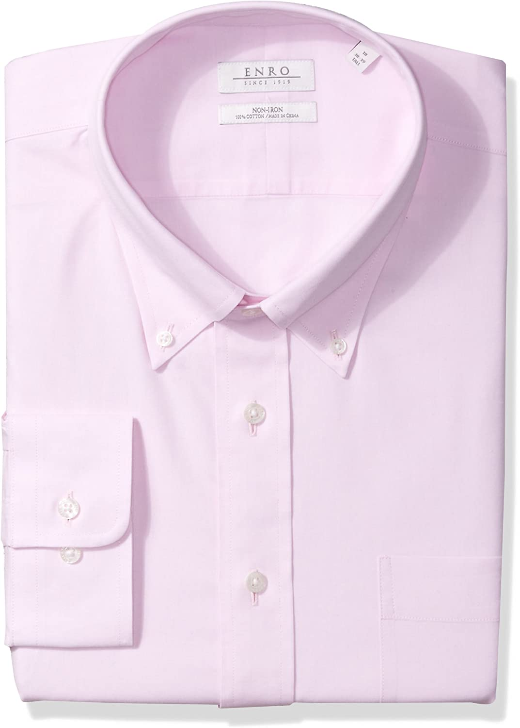 Enro Mens Big and Tall Non-Iron Big /& Tall Pinpoint Oxford Dress Shirt