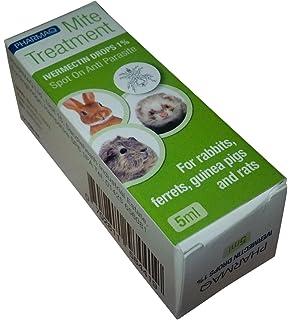 PHARMAQ gotas Ivermectina 1% 5 ml – Tratamiento de los ácaros para mascotas peludas pequeñas