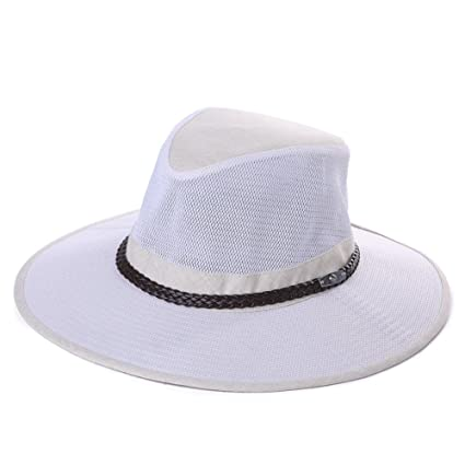 Fishing Hat Mesh Outdoor Hiking Travel Garden Safari Havana Panama Sun Hat  for Men SPF Foldable d3086ee81a39