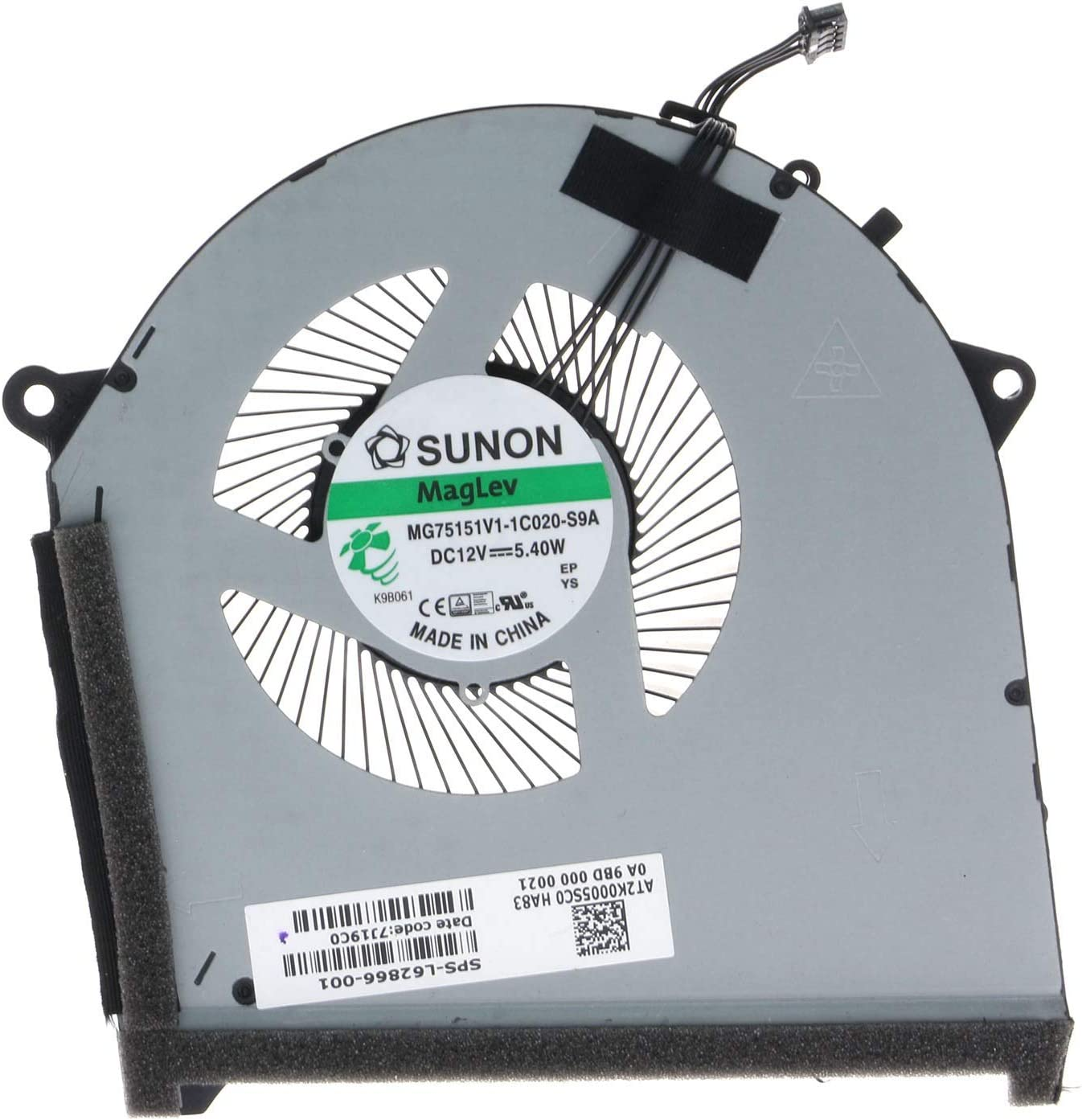 CPU /& GPU Cooling Fan for HP OMEN 17-CB Plus RTX 2080 L62866-001 MG75151V1-1C010-S9A MG75151V1-1C020-S9A