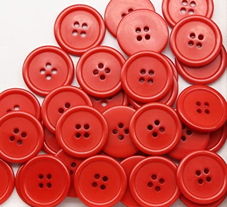 Red White /& Blue Fine Style Buttons Size 20mm