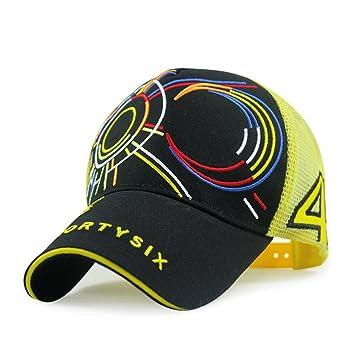 Bordado Valentino Rossi grande 46 Moto GP gorra de béisbol casco sombrero, Amarillo: Amazon.es: Deportes y aire libre