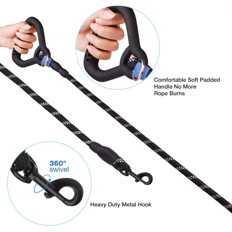 YIHATA Dual Dog Double Dog Leash Zinc Alloy Clasp Available for Large Medium Dog