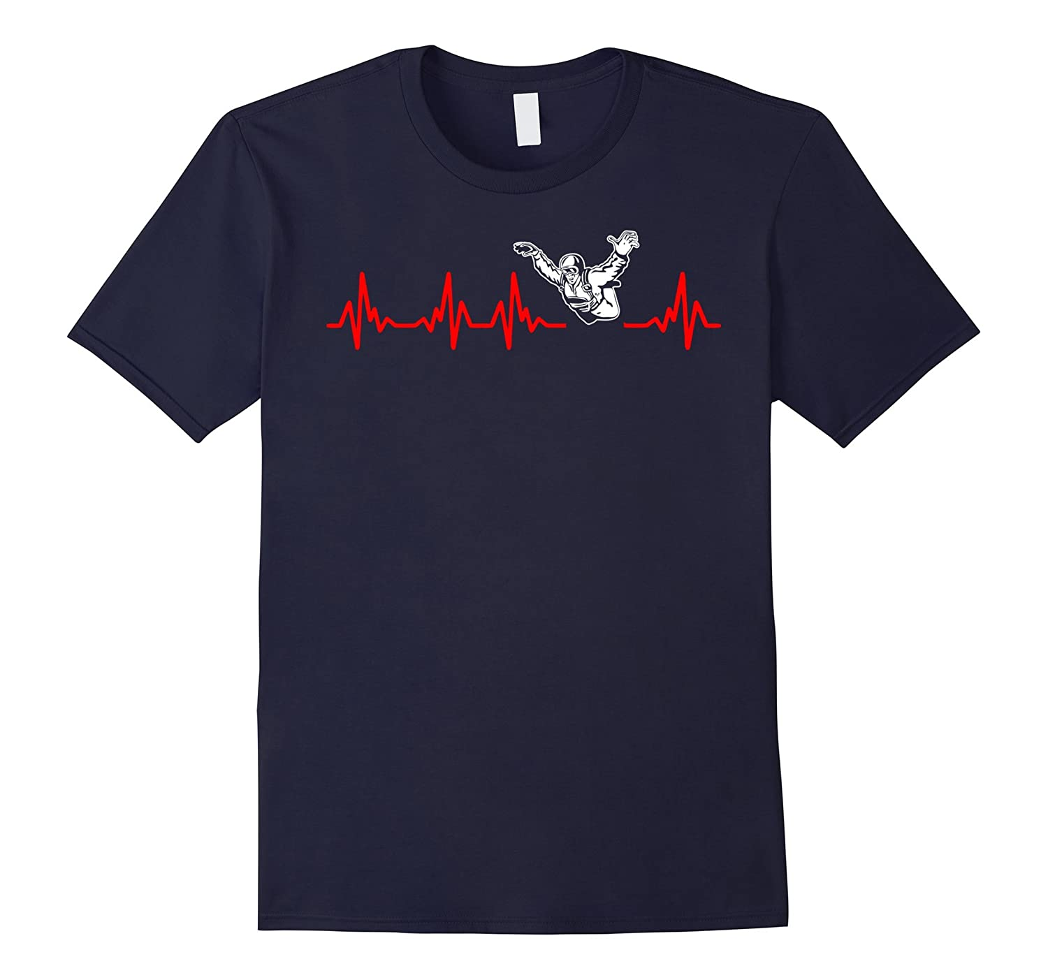 Heartbeat Skydiving Outdoors Sports Tshirt-TH