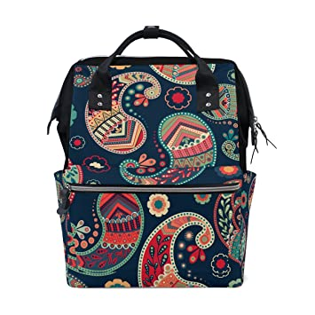 74f7d7d14cc Amazon.com : Bohemian Hippie Print Mommy Bag Mother bag Travel Backpack  Diaper Bag Daypack Nappy Bags for Baby Care Large Capacity : Baby