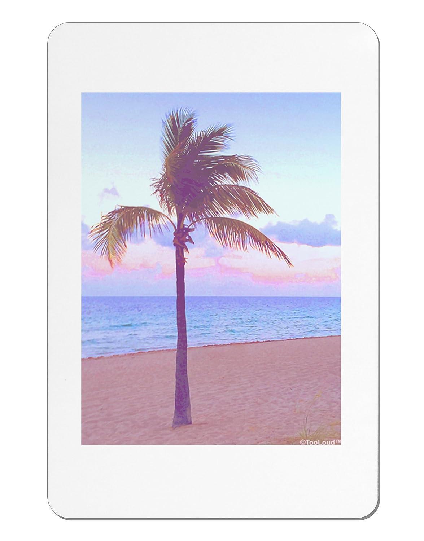 TooLoud Palm Tree Beach Filter Aluminum Magnet