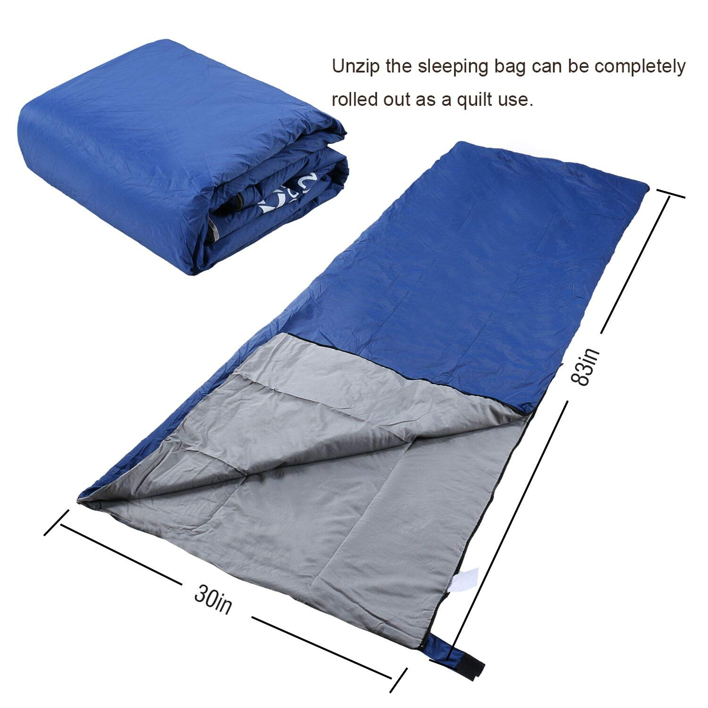 Bessport Saco de Dormir para Mam/á Saco de Dormir para Mochilero de 3 Estaciones para Adultos para Senderismo Ligero,C/álido y Lavable Viajes y Actividades al Aire Libre